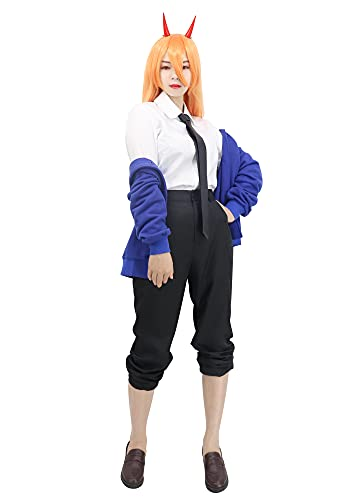 C-ZOFEK US Size Women s Power Cosplay Costume Outfit with Tie for Anime Chainsaw Man (X-Small)