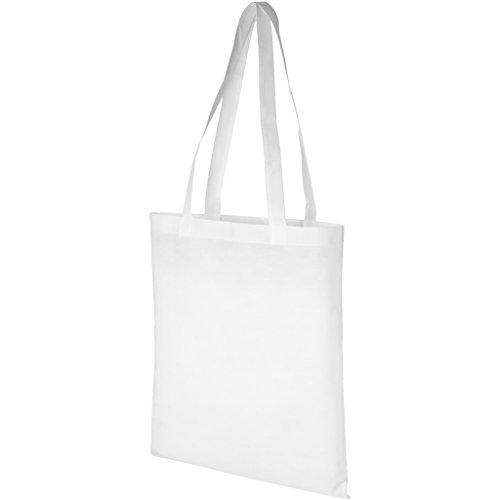 (ブレット) Bullet Zeus 不織布 コンベンション トートバッグ エコバッグ お買い物かばん (38.1 x 40 cm) (ホワイト)
