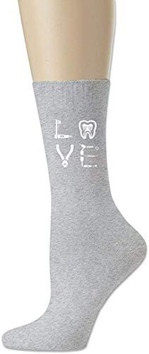 Dentalhygienikerin Unisex Erwachsene Sport Baumwolle Casual Crew Knit Socken Crew Socken All Season Schwarz