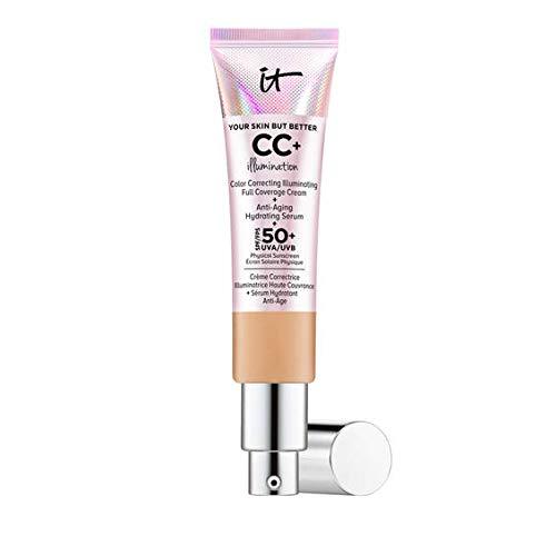 Crema de iluminación CC+ de IT Cosmetics con FPS...
