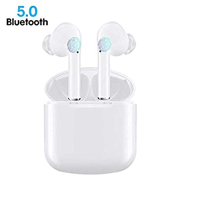 Wireless Earbuds, Bluetooth 5.0 Earbuds in Ear True Wireless Stereo Headphones, 30Hrs Playtime with Charging Case, Bluetooth Earbuds with Built-in Microphone for Sports and Work