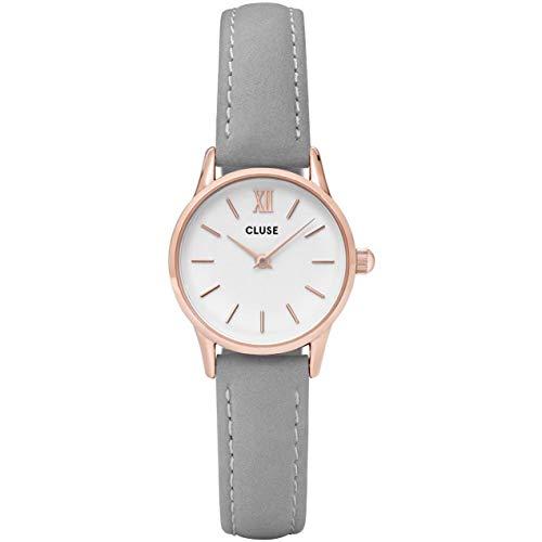 Cluse Unisex Erwachsene Digital Quarz Uhr mit Leder Armband CL50009