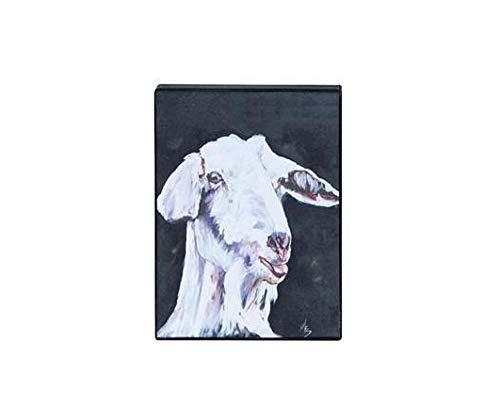 CHZDYH Ölgemälde 100% Handgemaltes Ölgemälde Geschenk Ziege Abstrakt Auf Leinwand HauptdekorationenKunstwerk75X120 cm