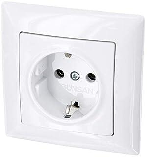 scheda presa di corrente up - all-in-one - telaio + inserto sotto intonaco + copertura (serie g1 bianco puro)