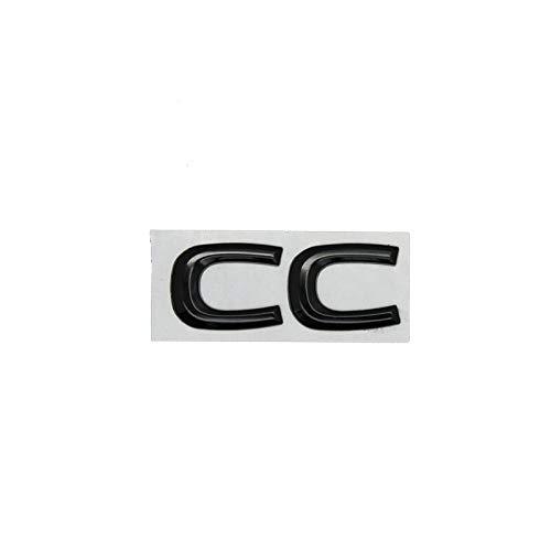 Adhesivo Insignia CC Chrome Metal Letra LOTEL Logo Transporte Transporte PALTADOR PEQUEÑA Compatible con Volkswagen VW Passat CC Tuning Emblema Emblema Insignia Etiqueta (Color Name : Black)