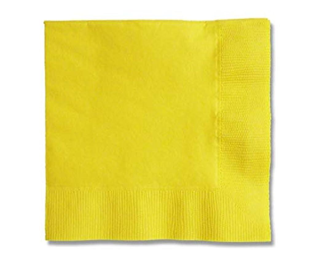 透明にマニュアル筋肉のカラー2PLYナプキン レモン 約25cm 50枚/62-1020-13