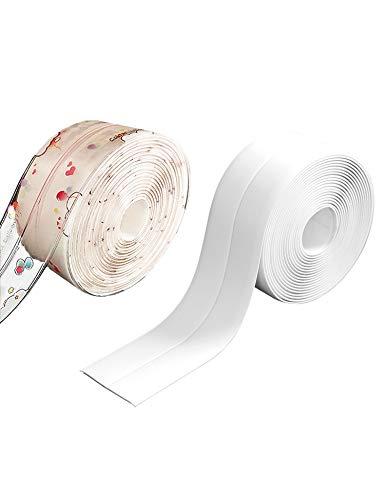 レーリーポップ 防水テープ 補修テープ 2個セット のり残らず 防油 多用途 透明 模様 防水 防カビ 耐熱 隙間テープ トイレ キッチン バスルーム (T2)