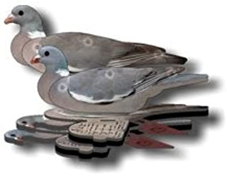 Wood Pigeon Decoy - 6-Pack Foldable Wood Pigeon for Hunting - Land and Water Use - Waterproof, Shot-Proof - Realistic UV Certified Decoy Paints - Includes Anchors, Anchor String and Fudslinger