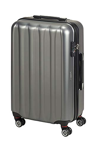 Princess Traveller Hollywood Polycarbonate TSA Lock Traveller Laptop Rollkoffer, 63 Liter, Anthracite
