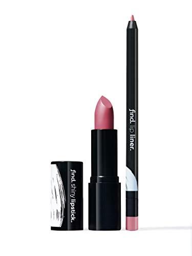 Marca Amazon - find. Dramatic Violet (Barra de labios brillante n.3 + Perfilador de labios n.3)