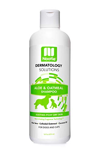 Nootie ❶ Dog Shampoo with Soothing Aloe Best for All Pets Including Dogs, Cats, and Horses - 100% All Natural Deodorizing Soap Free Formula Provides Itchy Skin Relief - 16 Oz.