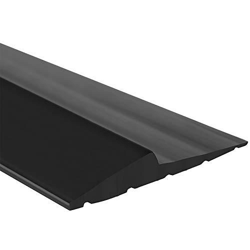 Universal Garage Door Bottom Threshold Seal Strip,Weatherproof Rubber DIY Weather Stripping Replacement, Not Include Sealant/Adhesive (10Ft, Black)