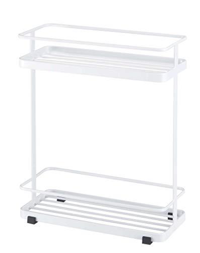 YAMAZAKI home Bath Rack-Bathroom Shower Storage Holder, Caddy Shelf Organizer, One Size, White