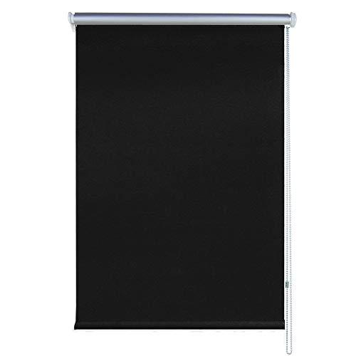 SAILUN® Thermorollo Verdunklung Klemmfix ohne Bohren mit Klemmträgern Fensterrollo für Wandmontage & Deckenmontage (70 x 160 cm, Anthrazit)