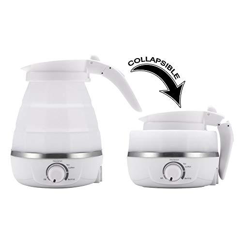 MiEncounter Faltbarer Reisewasserkocher, Dual Voltage & tragbar Wasserkocher, Mini & schnell kochend, Trockenschutz, lebensmittelgeeignet, BPA-FREI, 220-240V
