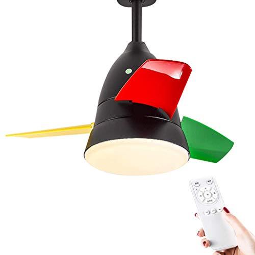 BAIJJ Nordic led-plafondlamp met ventilator, afstandsbediening, licht voor plafondventilator voor eetkamer, wind, 3 snelheden, timerfunctie