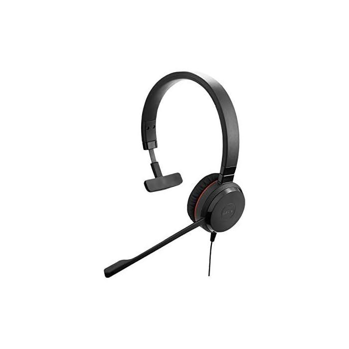 Jabra Evolve 30 UC Mono Casque - Casque Unified Communications pour VoIP Softphone avec annulation passive du bruit…