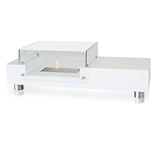 BioFire Tisch Feuerstelle PS-TF-07W perfect-spa Bio-Ethanol Ofen Fireplace Kamin Feuerstelle