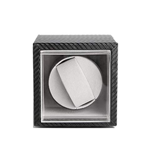 ZHANGYH Vibrador de Reloj mecánico Caja enrolladora automática de Lujo para Reloj Individual, Caja de Almacenamiento de Reloj Individual con Motor silencioso y Ventana t