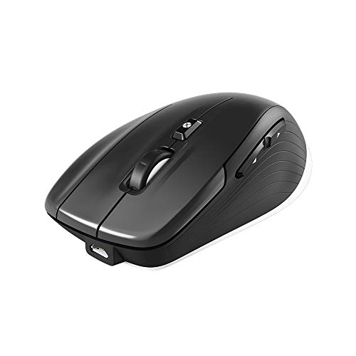 3Dconnexion CadMouse Wireless (kabellose Maus, Bluetooth, USB, optischer Sensor, schwarz)