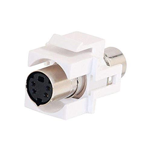 C2G 03823 Snap-In S-Video F/F Keystone Module, White