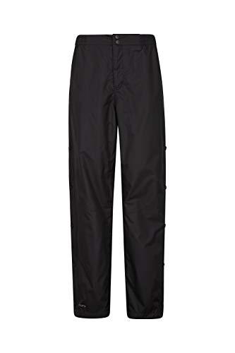 Mountain Warehouse Extreme Downpour Überhosen Für Damen - Regenhose in kurzer Beinlänge, mit Netzfutter, atmungsaktiv, elastischer Bund Schwarz 34