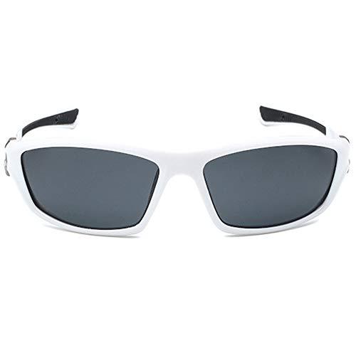 VENSUL Gafas de sol deportivas polarizadas con protección UV400, para pesca, esquí, golf, correr, ciclismo, marco blanco y negro