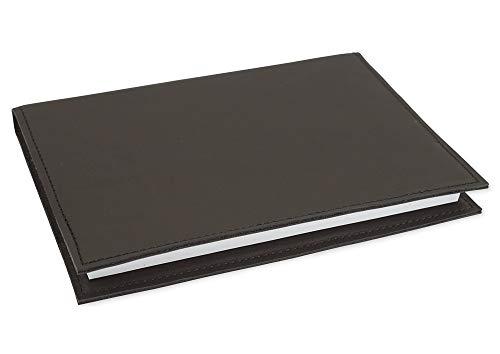 Kalenderhülle für TimeTex System-Schulplaner A4-Plus - Leder - Braun - Mocca - Ledereinband für Schulplaner - Lederhülle für Timer - 30895
