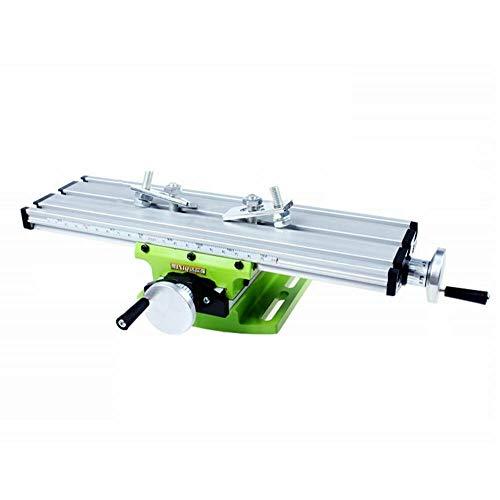 Futchoy Mesa de fresado, fresadora, mesa de trabajo, multifunción, mesa de perforación, mesa de coordinación, tornillo de banco 310 x 90 x 80 mm