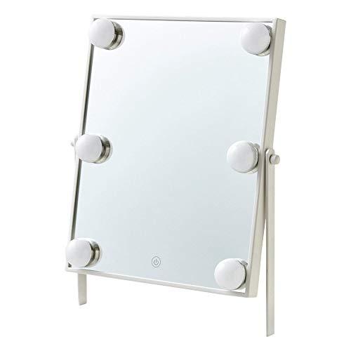 FrancfrancフランフランフッツェハリウッドミラースクエアSホワイト鏡鏡卓上化粧鏡手鏡卓上ミラー女優ミラー