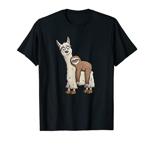 Chill Out Faultier reitet Lama Trendy Alpaka Style T-Shirt