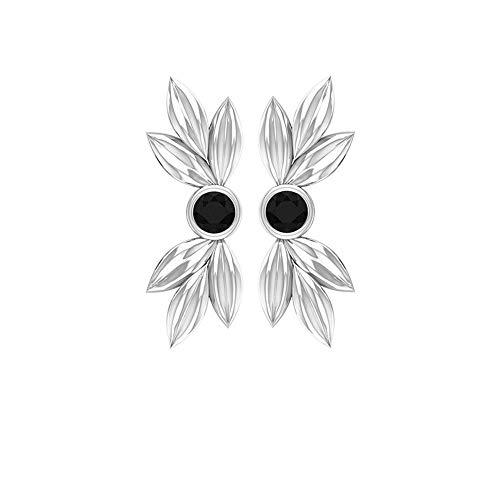 Pendientes de ónix negro dorado, pendientes florales, aretes de bisel fijado, pendientes de cartílago, pendientes mínimos, tornillo de vuelta negro