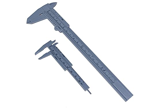 Calibro Plastica, Kit Da 2 Calibri Manuale Analogico, 150mm Standard + 80mm Piccolo