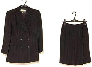 (トラサルディー)TRUSSARDI スカートスーツ レディース 黒×ライトグレー 【中古】