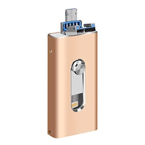 Pendrives OTG 3 en 1 compatible con iPhone/iPad USB 3.0 de alta...