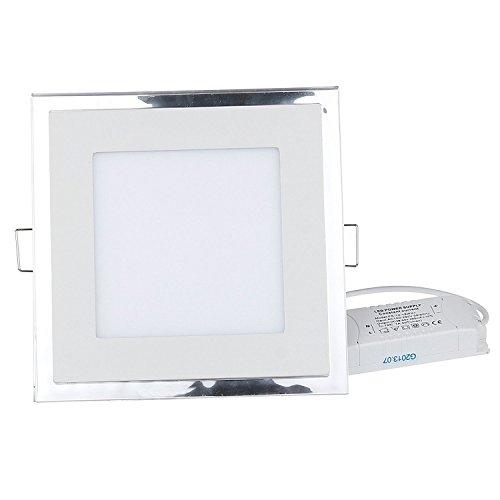 LEMONBEST 10W LED Acrylic Recessed led Panel Light SMD Ceiling light Downlight Lamp Square 5000K~6500K Cool White - for Indoor Decoration
