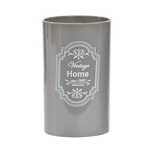 Vaso de Baño para Cepillo de Dientes. Diseño Home, con Estilo Vintage/France (11,5cm X 7cm X 7cm) - Hogar y Más -...