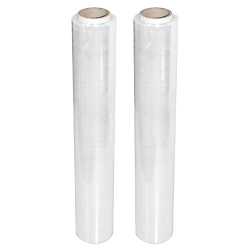 Stretchfolie Wickelfolie Packfolie 500mm | 1.5KG | 2er Pack | Transparent