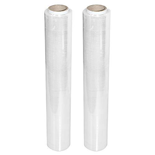 Stretchfolie Wickelfolie Packfolie 500mm | 1.5KG | 2er Pack | Transparent