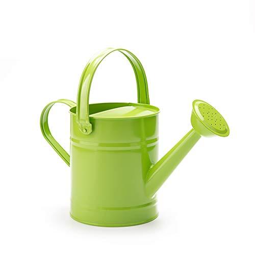 Xiaoli Arrosoirs Arrosoir Extérieur Jardin Vintage Fer Métal arrosoir Bouteille d eau Pot Bucke for l arrosage des Plantes de Fleurs Décoration À l intérieur et à l exterieur Arrosoir (Color : Green)