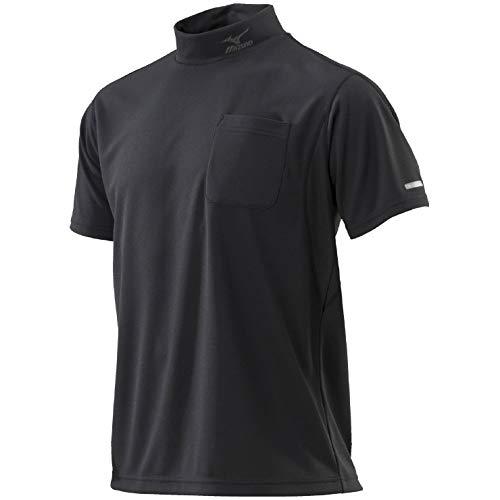 MIZUNO(ミズノ) ハイドロ銀チタンワークシャツ半袖 ウエア Tシャツ 半袖 (C2JA8184) 09ブラック M