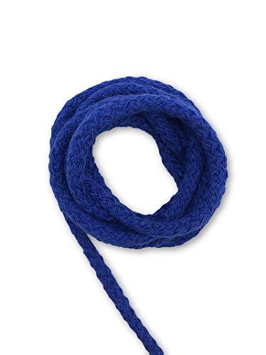 Slantastoffe 5m Baumwollkordel 5mm, Kordel, Schnur, Turnbeutel, 21 Farben (Blau)