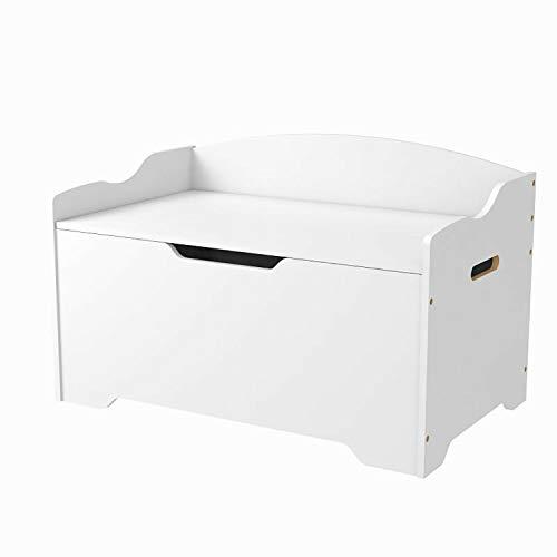 Walgreen® Mamakid Wooden Toy Organizer Storage Chest Ottoman Box and Sitting Bench White