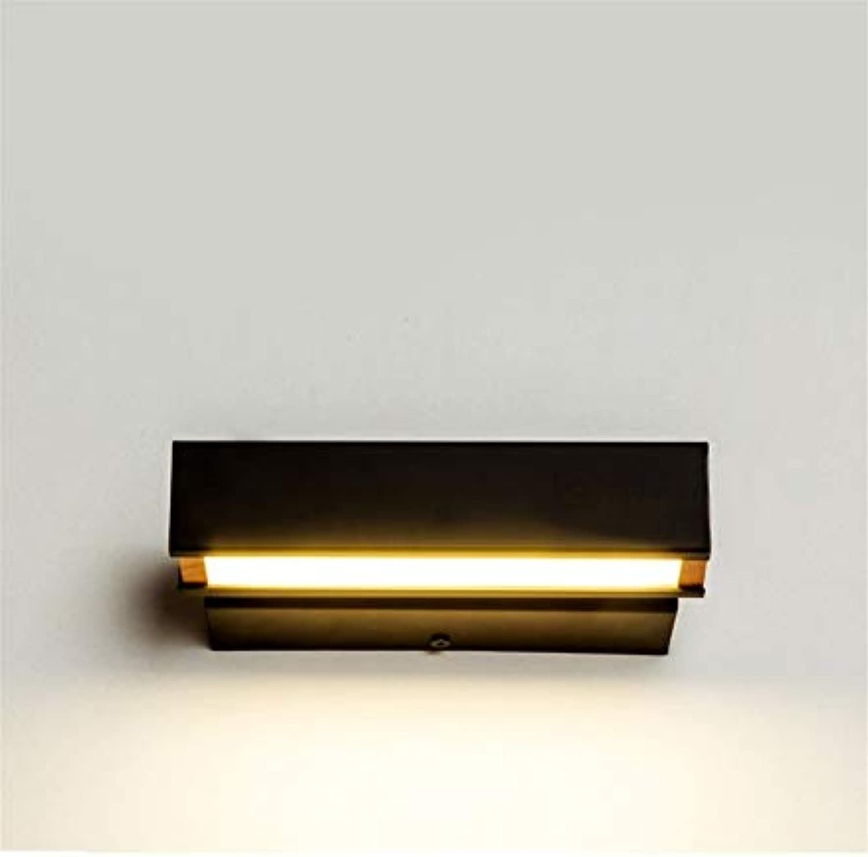 Wandbeleuchtung,Moderne Minimalistische Nachtwandlampe Drehbare Led Schlafzimmer Kreative Wandleuchte Warme Gang Wandleuchte, Weies Licht, Schwarz