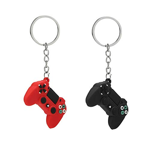 Game Controller Playstation PS4 Keychain Video Gaming Keyring Gamer Gift 2 pcs