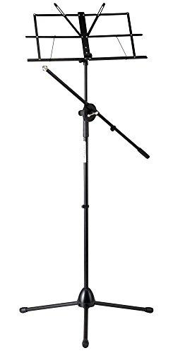 Classic Cantabile NSM-100 Atril para partituras con brazo de micrófono