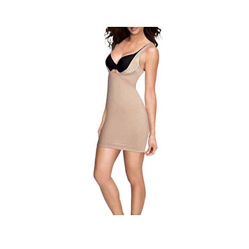 Flexees Women's Firm Control Shapewear WYOB Slip, Beige, Medium