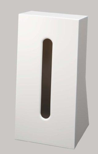 山崎実業 ティッシュケース ホワイト 約W13×D11×H25.5cm スマート 7984