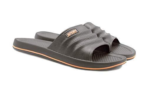 Sandalias de ducha para hombre, de secado rápido, antideslizantes, de goma EVA, suaves (Gris, measurement_27_point_0_centimeters)