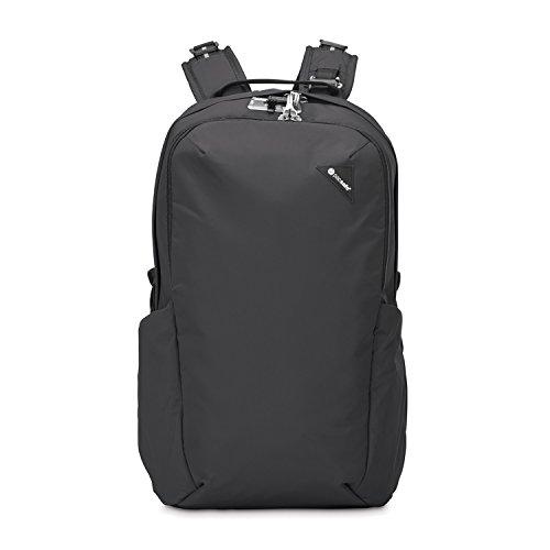 Pacsafe Vibe 25 - Anti-Diebstahl Backpack, Diebstahlschutz Daypack, Rucksack 25 Liter, Schwarz/Black